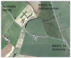 Google Map - Location of Inverurie and District Model Flying Club flying field